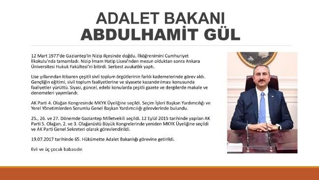 adalet bakani abdulhamit gul kimdir